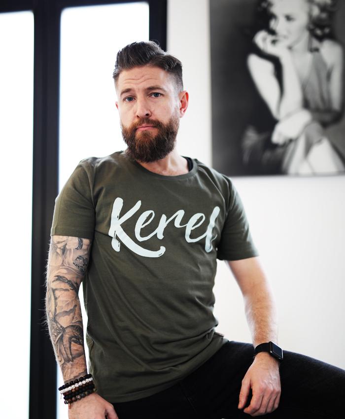 Kerel t-shirt kaki - CHEEKY & DUTCH