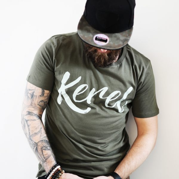 Kerel t-shirt kaki - CHEEKY & DUTCH