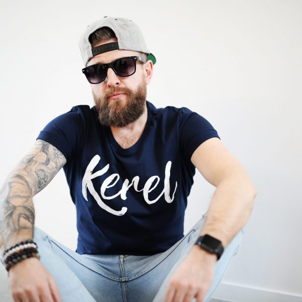 Kerel t-shirt Navy - CHEEKY&DUTCH