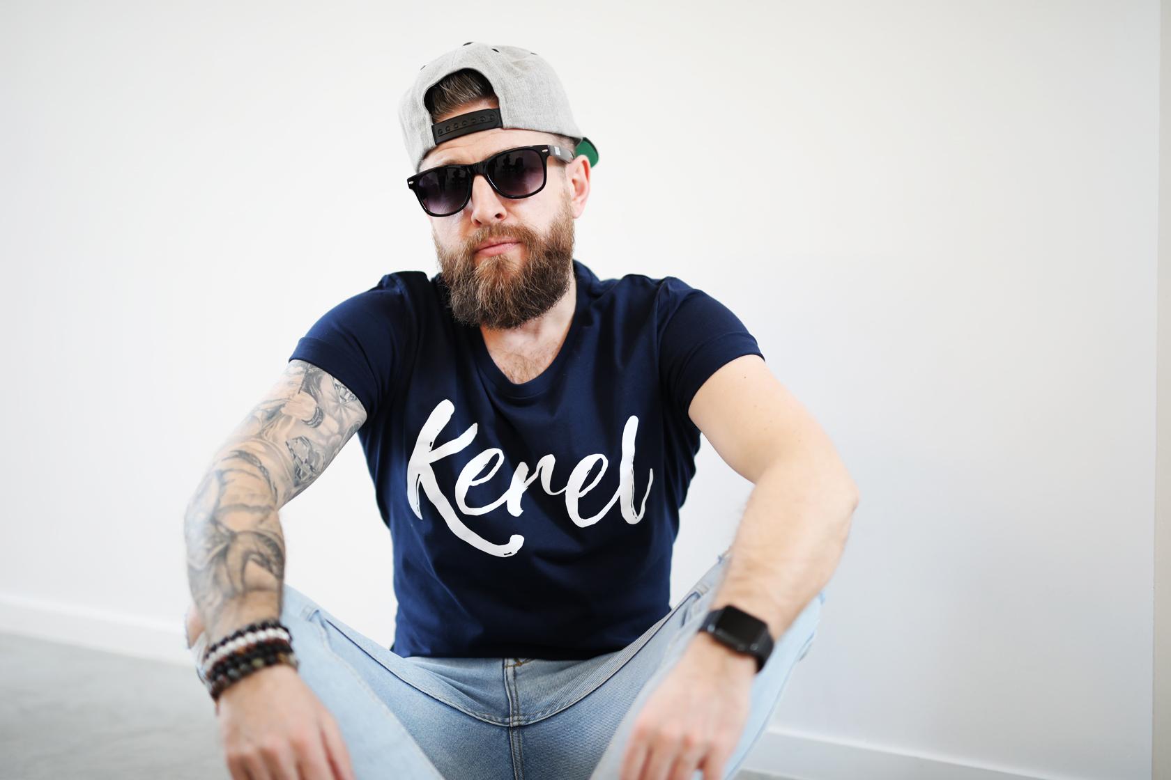 Kerel t-shirt Navy - CHEEKY&DUTCH