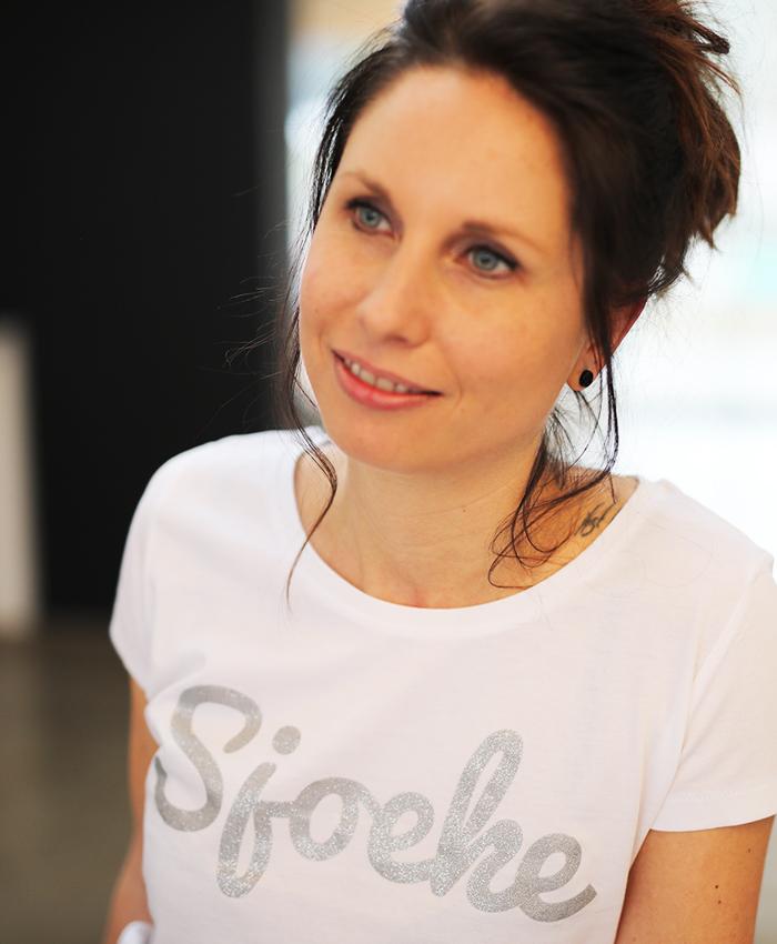 Original Sjoeke t-shirt white glitter - CHEEKY&DUTCH