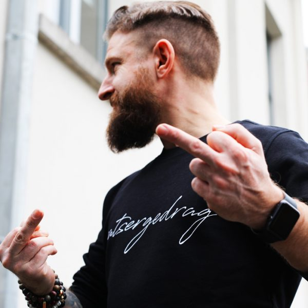 Patsergedrag sweater black - CHEEKY&DUTCH