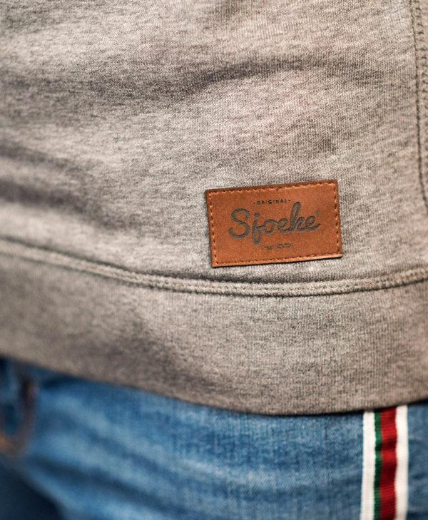 Sjoeke sweater grey - CHEEKY&DUTCH, The Fashion Bakery