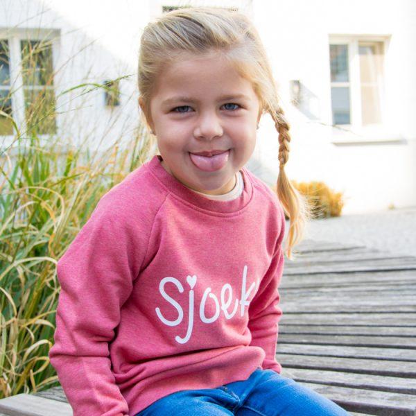 Sjoeke Sweater Meisjes Cranberry - CHEEKY&DUTCH