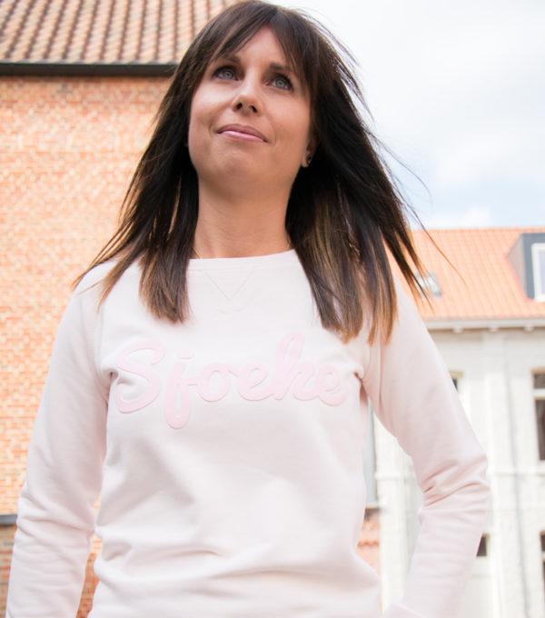 echte Sjoeke sweater pink puff - CHEEKY&DUTCH